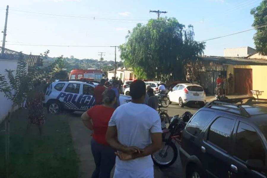 Homicídio no Independência Mansões | Foto: Leitor/FZ