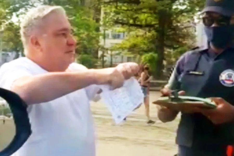 Desembargador Eduardo Siqueira foi filmado alterado durante abordagem dos guardas municipais | Foto: Reprodução