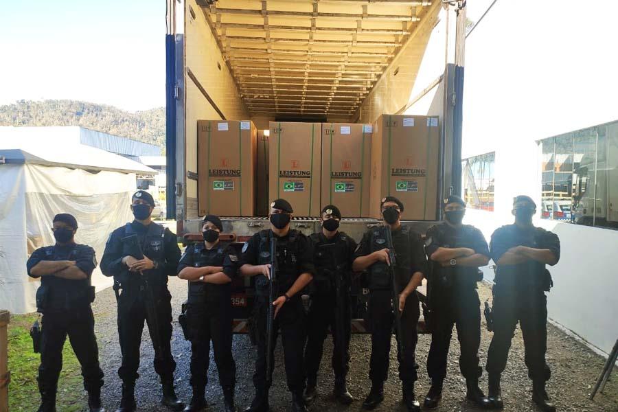 GCM escolta respiradores de SC até Aparecida | Foto: Divulgação