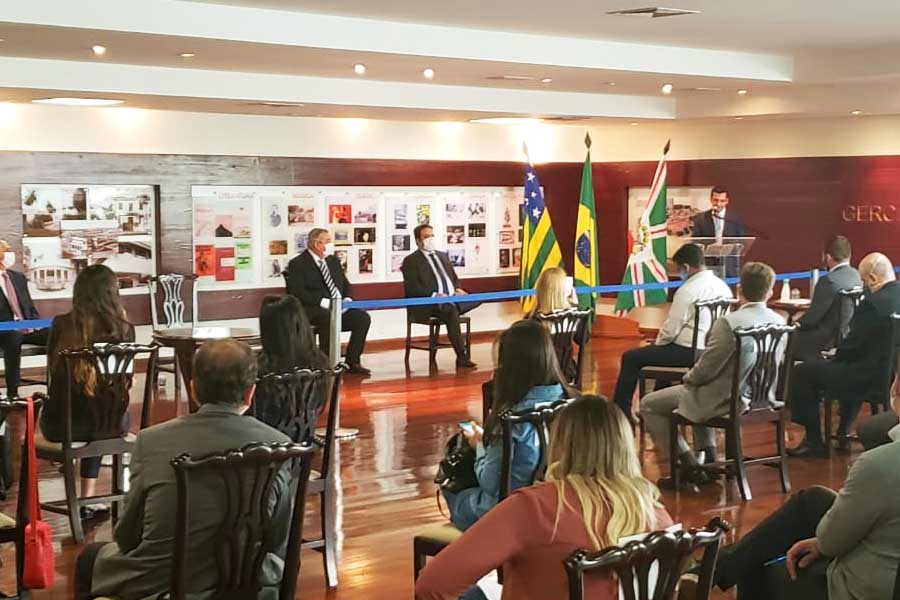 Cerimônia da posse de Hélio Lopes no Ipasg, no lugar de Silvio Fernandes   Foto: Folha Z