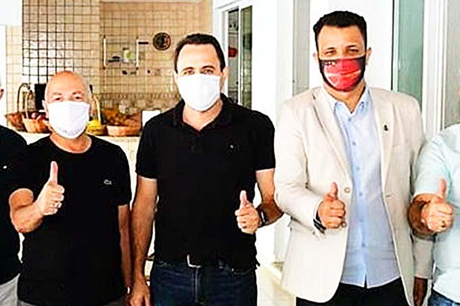 Professor Alcides, Veter Martins e Daniel Rodrigues em encontro no sábado (25)   Foto: Reprodução/Instagram