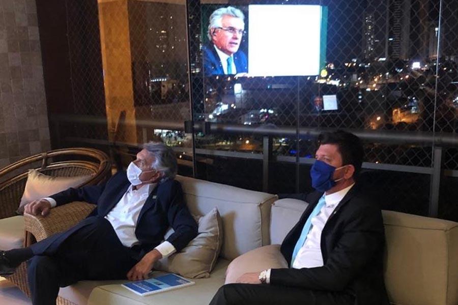 Ronaldo Caiado e Glaustin da Fokus analisam pesquisas e levamentos eleitorais   Foto: Divulgação
