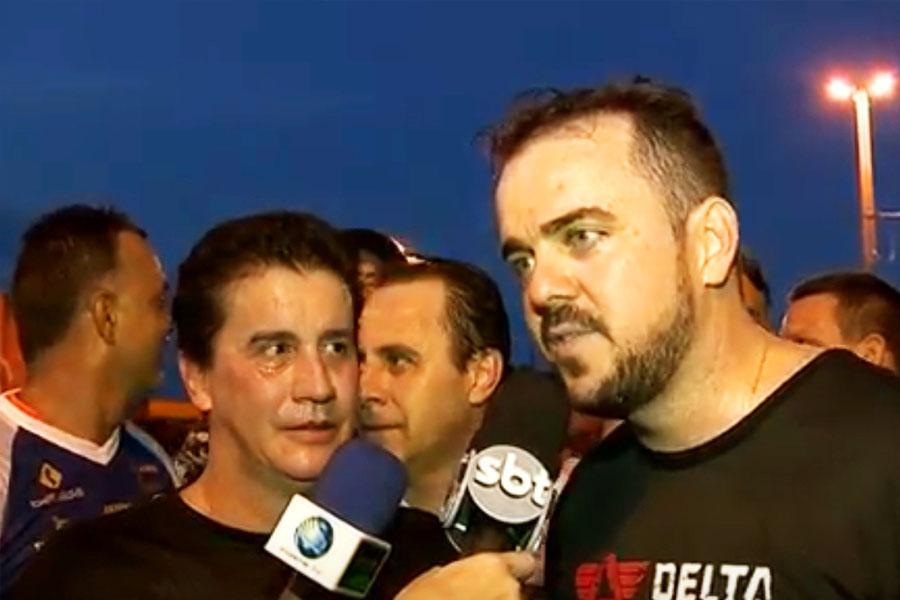 Jordevá faz corrida de rua com o prefeito de Aparecida Gustavo Mendanha | Foto: Reprodução