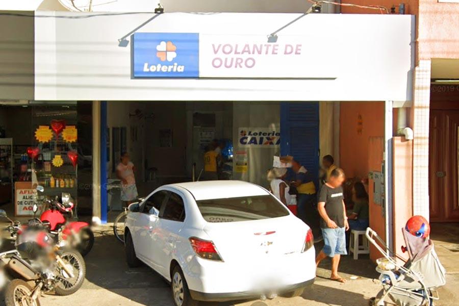 Loteria Volante de Ouro, em Aparecida, teve aposta ganhadora de R$ 1,3 milhão da Lotofácil | Foto: Reprodução