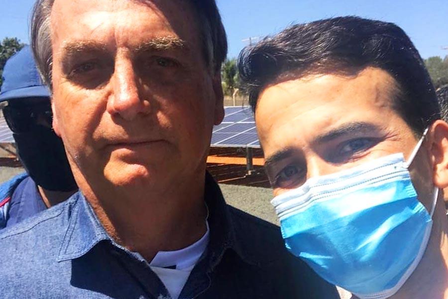 Max Menezes e Jair Bolsonaro | Foto: Reprodução/Instagram
