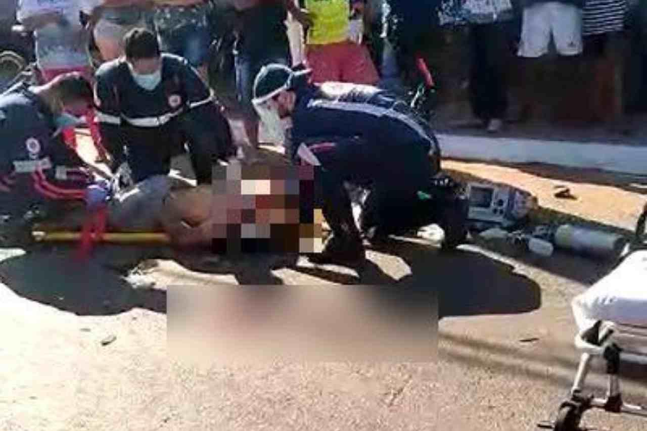 acidente carro moto Tiradentes
