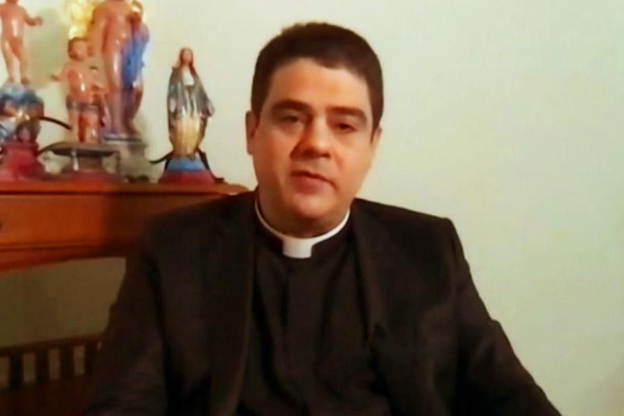 Padre Robson em entrevista ao Fantástico | Foto: Reprodução/Rede Globo