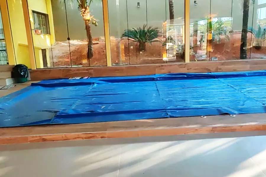 Endereço ligado ao padre Robson tinha piscina aquecida | Foto: Reprodução