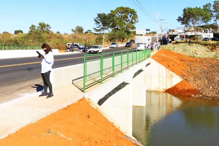 Nova ponte construída no Bairro Goiá | Foto: Divulgação