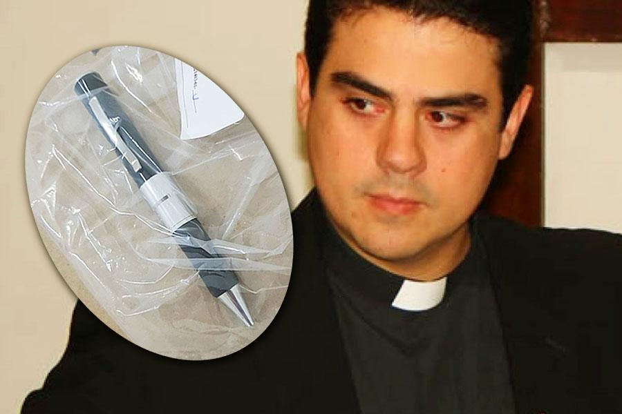 Caso Padre Robson: MP analisa conteúdo de caneta espiã apreendida | Foto: Divulgação/MP-GO