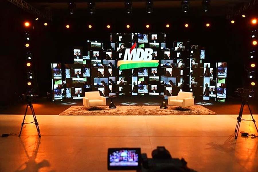 Bastidores da convenção do MDB Aparecida | Foto: Reprodução
