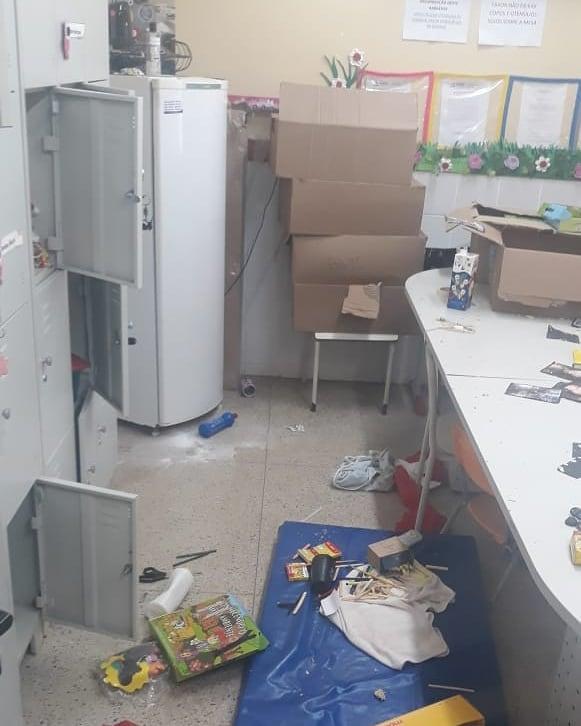 escolas vandalizadas por adolescentes Aparecida