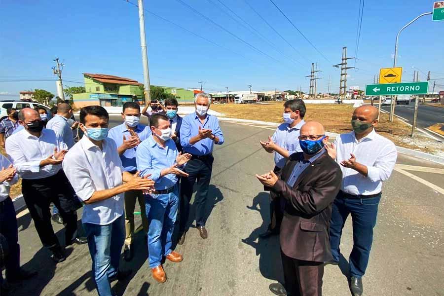 Comitiva acompanha inauguração de obras no Anel Viário nesta 2ª (28) | Foto: Divulgação