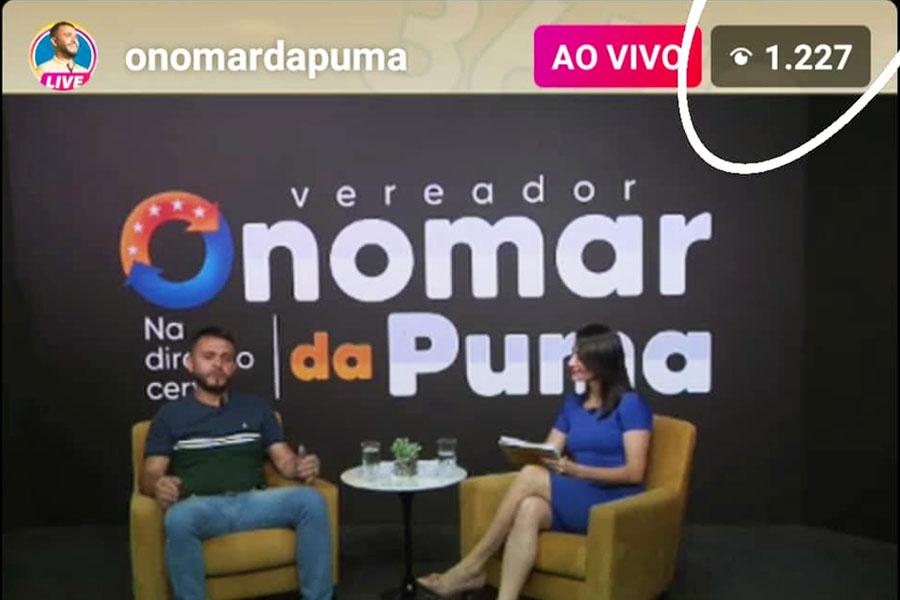 Onomar Novais e a apresentadora Sandra Queiroz | Foto: Reprodução / Instagram