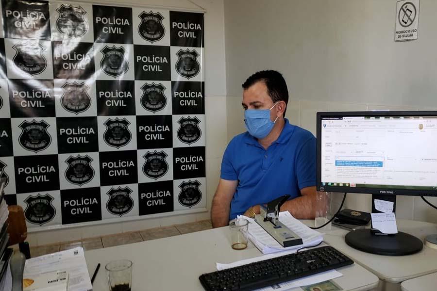 Marcos do Sinias registrou ocorrência na delegacia | Foto: Reprodução