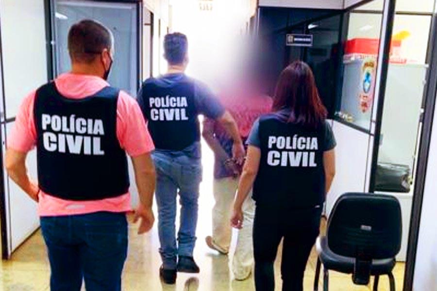 Polícia Civil prende preventivamente homem investigado por estuprar as duas filhas; uma delas teria ficado grávida duas vezes   Foto: Divulgação/PC-GO