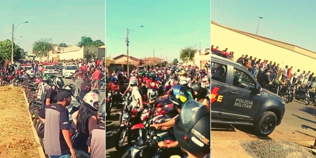 Motos e condutores que não estavam com a documentação regular não puderam participar do rolezinho | Foto: divulgação