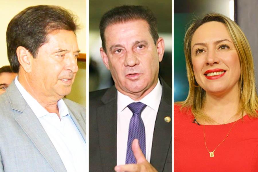 Maguito Vilela, Vanderlan Carodoso e Adriana Accorsi | Foto: Reprodução