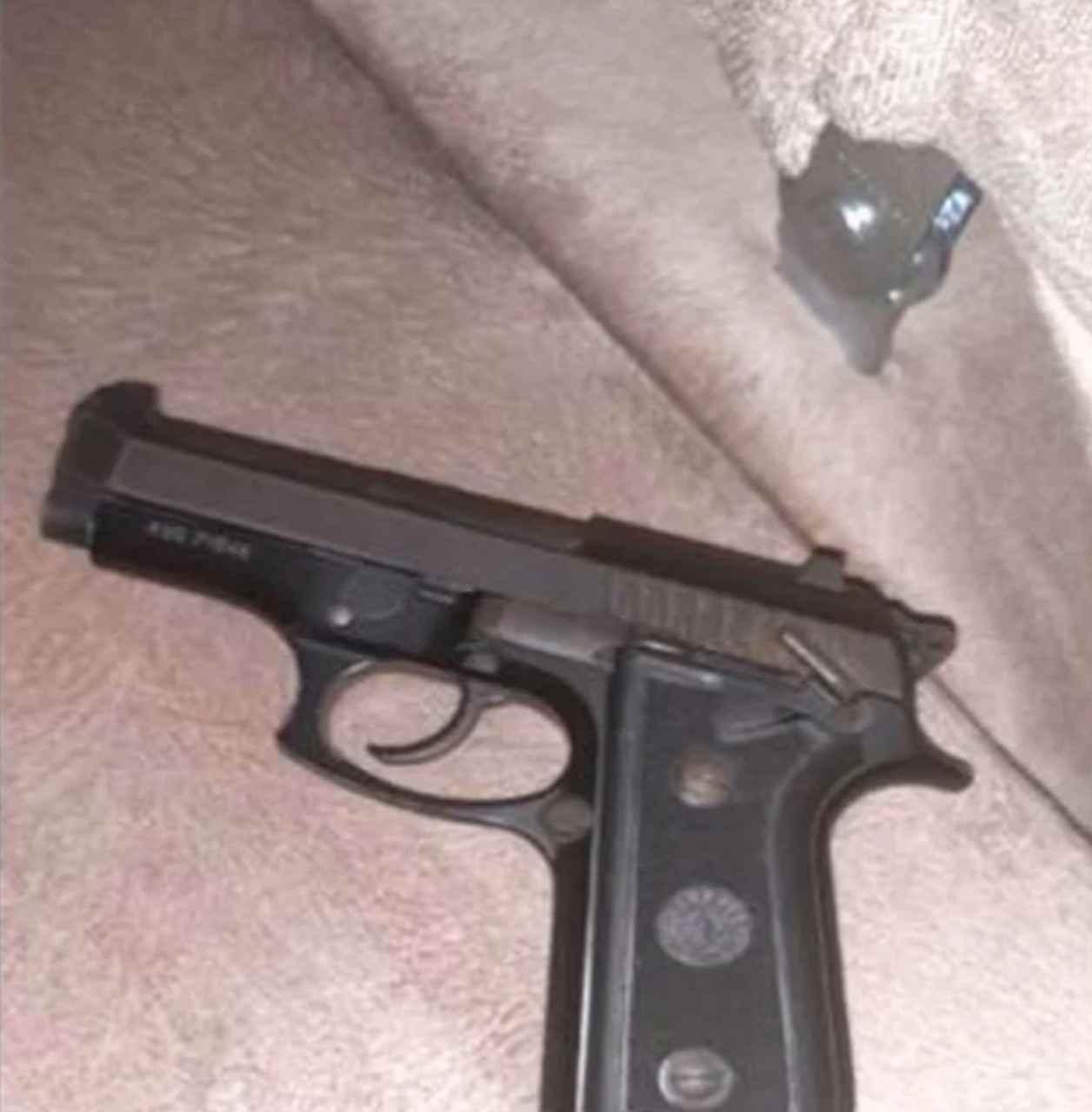arma apreendida suspeito Goiânia