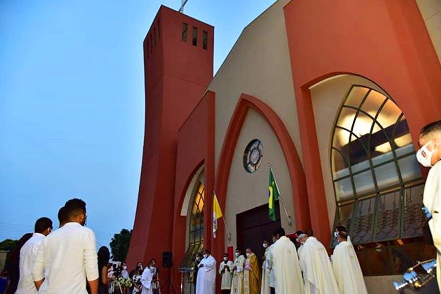 Igreja São João Batista, no setor Colina Azul | Foto: Divulgação