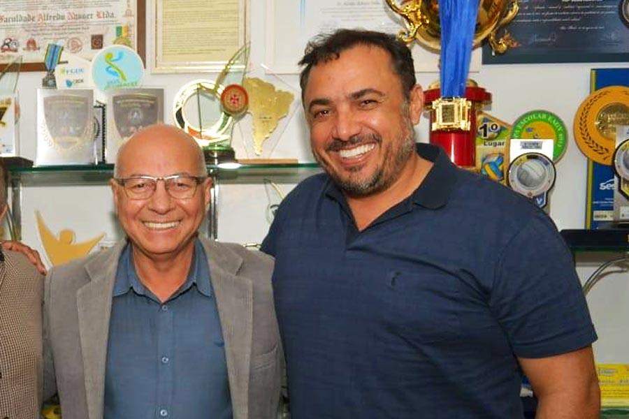 Professor Alcides e André Fortaleza | Foto: Reprodução