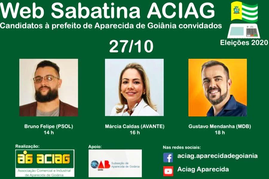 Sabatina com os candidatos a prefeito de Aparecida | Foto: Divulgação