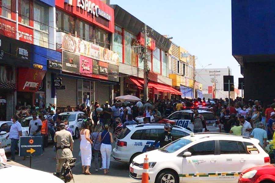 Vendedor foi assassinado em loja na região da 44, em Goiânia | Foto: Leitor/ FZ